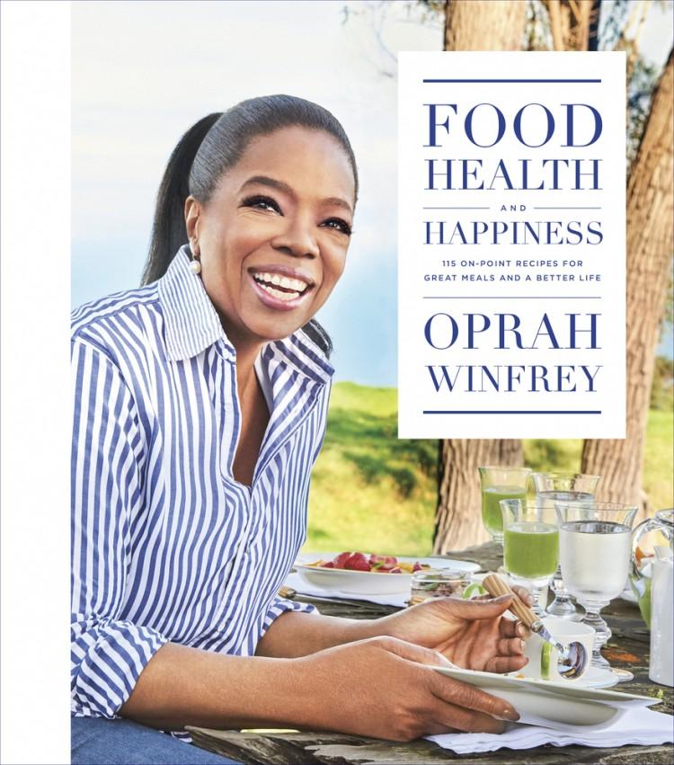 O livro de receitas da apresentadora de TV norte-americana Oprah Winfrey, lançado este mês (Divulgação)